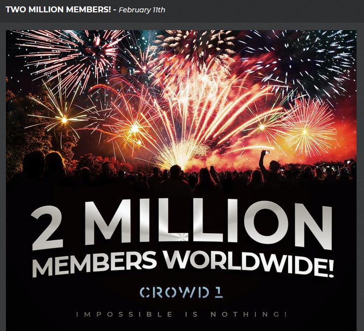 crowd 1 deutsch - 2 Millionen Mitglieder